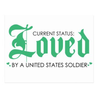 Current Status: Loved by a US Soldier Postcard