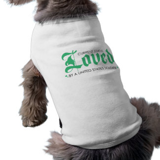 Current Status: Loved by a US Soldier Sleeveless Dog Shirt