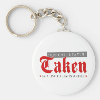 Current Status: Taken by a Soldier Basic Round Button Key Ring