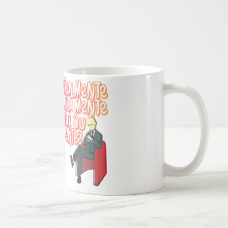 Currently does your mind act or lies? basic white mug