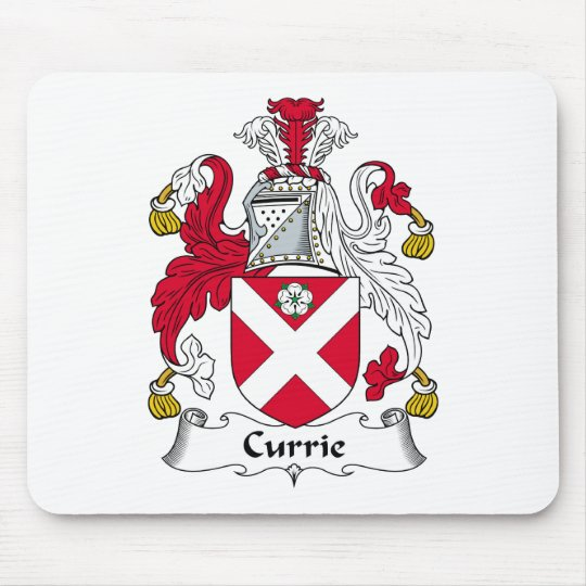 Currie Family Crest Mouse Mat