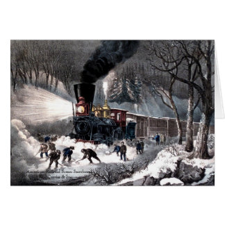 Currier & Ives - Greeting Card -Snowbound