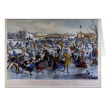 Currier & Ives Skating Pond Notecards Cards