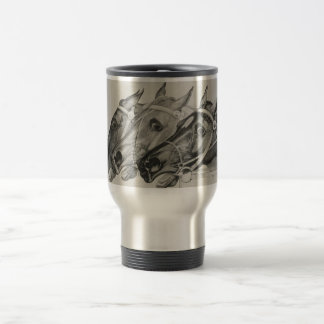 currier & ives --The Leaders aluminum travel mug
