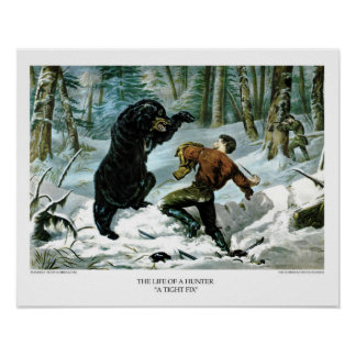 Currier & Ives: The Life of a Hunter - A Tight Fix Poster