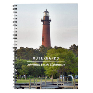 Currituck Beach Light Spiral Note Books