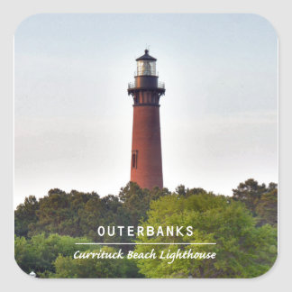 Currituck Beach Light Square Stickers