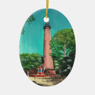 Currituck Beach Lighthouse Oval Ornament