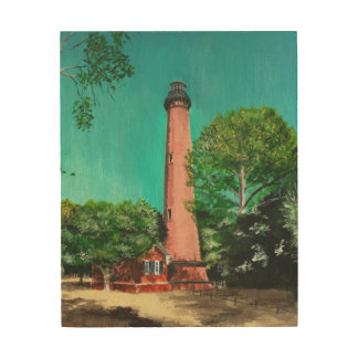 Currituck Beach Lighthouse Wood Canvas
