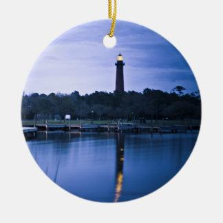 Currituck Lighthouse Round Ceramic Decoration