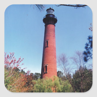 Currituck Lighthouse Square Sticker