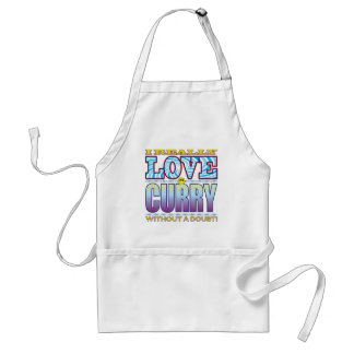 Curry Love Face Standard Apron