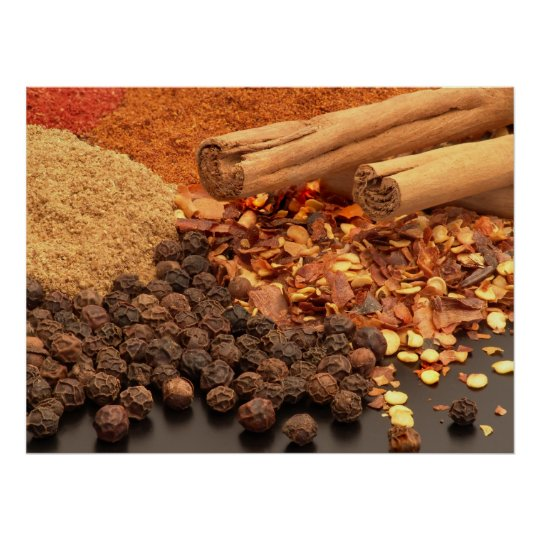 Curry Spices Photo Poster