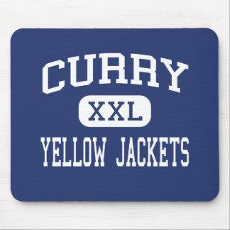 Curry - Yellow Jackets - High - Jasper Alabama Mouse Pads