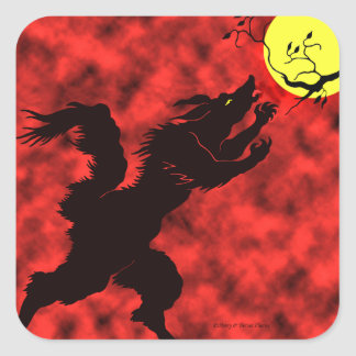 """""""Curse of the Full Moon"""" Stickers"""