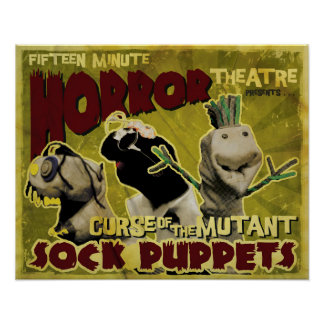 Curse of the Mutant Sock Puppets Movie Poster