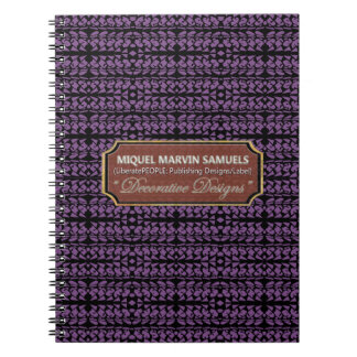 Curses Decorative Black Purple Modern Notebook