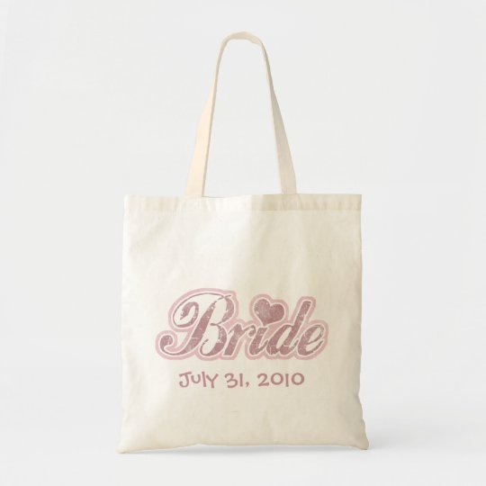 Cursive Bride Pink Tote Bag