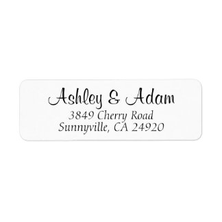 Cursive Elegance - Wedding Return Address Labels