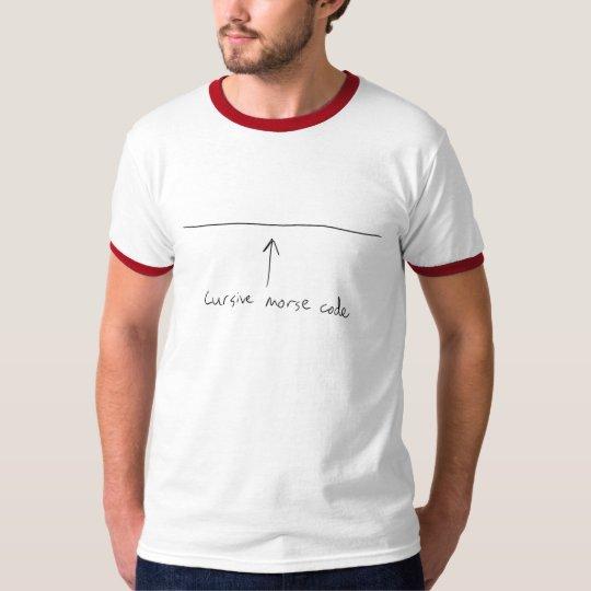 Cursive Morse Code T-Shirt