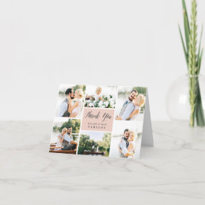 Cursive | Wedding Photo Collage Thank You