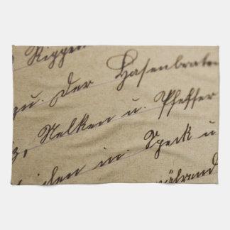 Cursive Writing Kitchen Towels