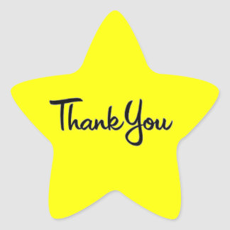 CURSIVE WRITING THANK YOU EXPRESSION STAR STICKER
