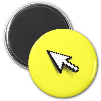 Cursor 3D 6 Cm Round Magnet