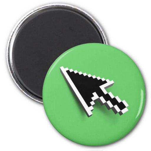 Cursor 3D (inverted) Fridge Magnet