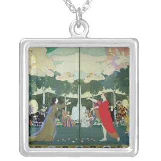 Curtain Design for the 'Free Theatre' in Silver Plated Necklace