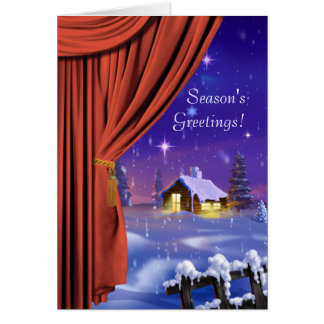 Curtain Fantasy Corporate Greeting Card
