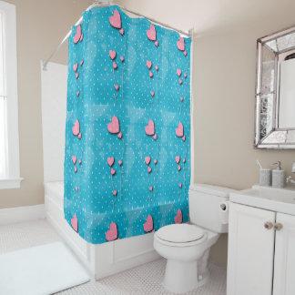 "Curtain for bathroom ""Balloons of hearts """