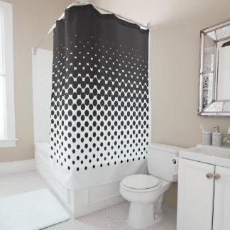 Curtain of Bath Black Degraded Dots
