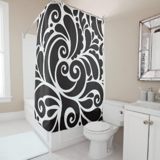 Curtain of Bath Black Ornamet