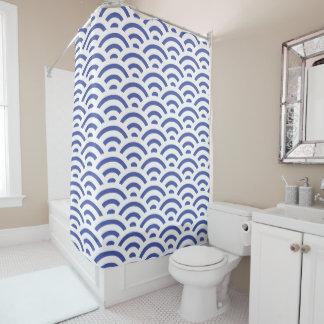 Curtain of Blue Bath Shell