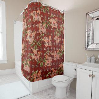 """Curtain of vintage bath "" Shower Curtain"