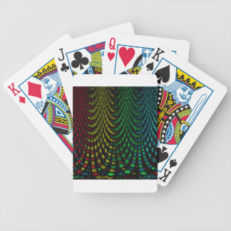 Curtains in abstract bicycle playing cards
