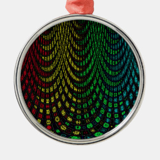 Curtains in abstract christmas ornament