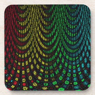 Curtains in abstract coaster