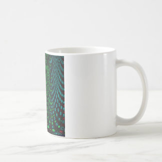 Curtains in abstract coffee mug