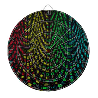 Curtains in abstract dartboard