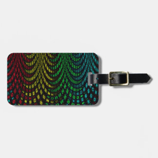 Curtains in abstract luggage tag