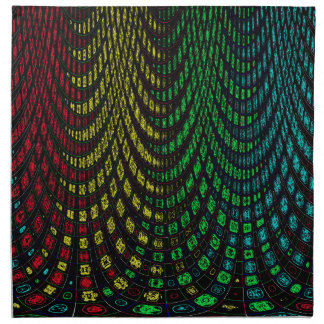 Curtains in abstract napkin