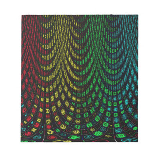 Curtains in abstract notepad