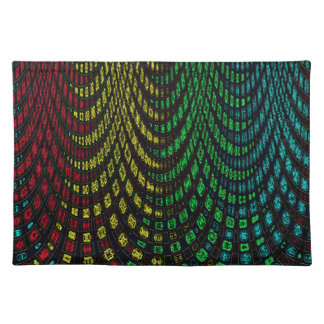 Curtains in abstract place mat