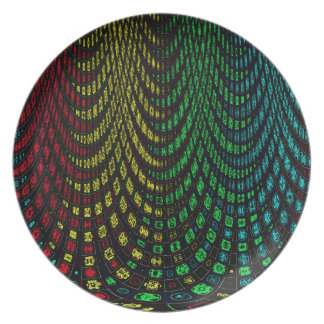 Curtains in abstract plate