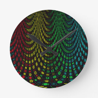 Curtains in abstract round clock