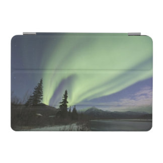 Curtains of green aurora borealis in the sky 2 iPad mini cover