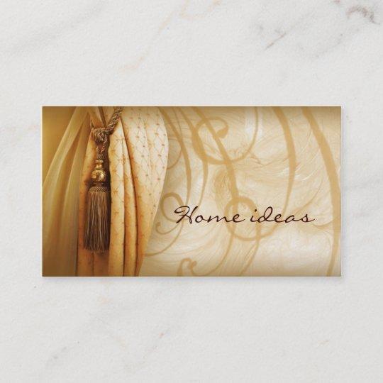 Curtains treatment vintage business card zazzle curtains treatment vintage business card reheart Images