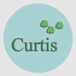Curtis Family Round Sticker